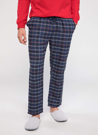 DeFacto Kareli Pijama Altı Lacivert
